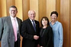 Rabbi Dan, Congressman Paul Tonko, Rabbi Rena, President Judy Avner