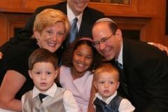 Weisberg wedding photo with family